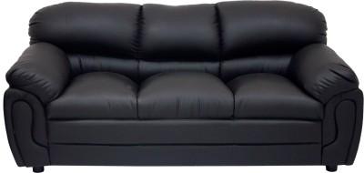 Wood pecker Leatherette Sectional Black Sofa Set