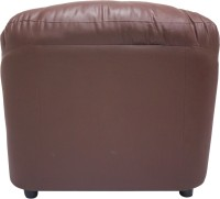 Wood Pecker Leatherette Sectional Brown Sofa Set(Configuration - Straight)