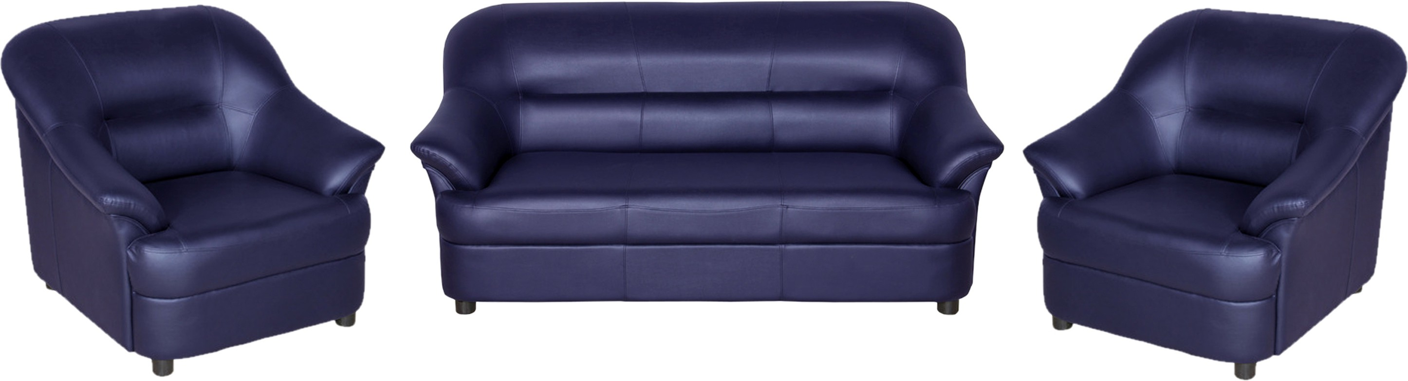 View Sethu Furniture Fabric 3 + 1 + 1 Violet Sofa Set(Configuration - Straight) Furniture (Sethu Furniture)