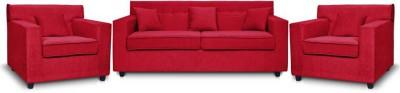 Comfy Sofa Engineered Wood 3 + 1 + 1 RED Sofa Set(Configuration - U-shaped)