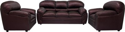 Woodpecker Jasmine Solid Wood 3 + 1 + 1 Brown Sofa Set