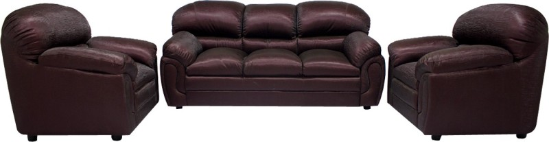 Woodpecker Jasmine Solid Wood 3 + 1 + 1 Brown Sofa Set(Configuration - U-Shaped)