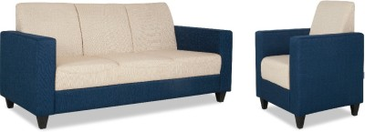 HomeTown Sofa set Fabric 3 + 1 Blue,Beige Sofa Set