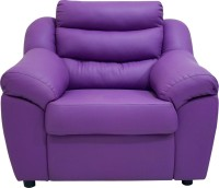 Wood Pecker Leatherette Sectional Purple Sofa Set(Configuration - Straight)