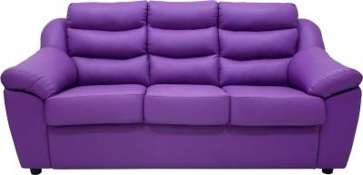 Wood pecker Leatherette Sectional Purple Sofa Set
