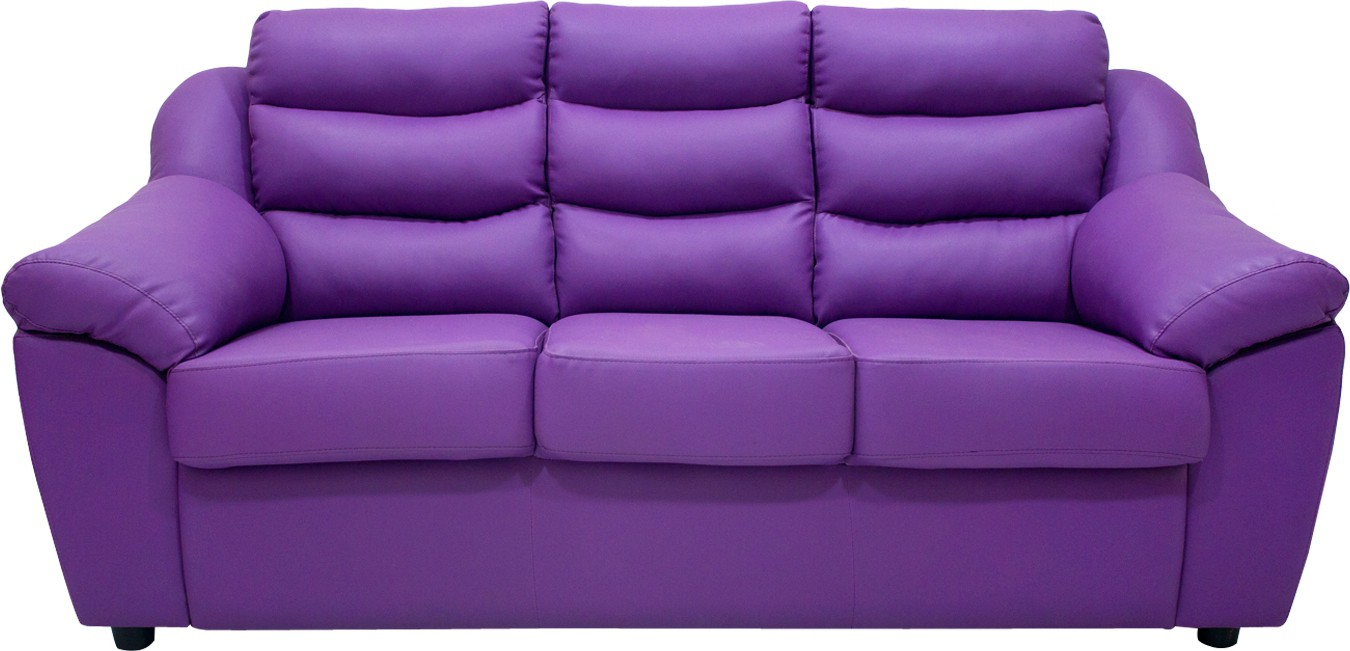 Buy Wood Pecker Leatherette Sectional Purple Sofa Set