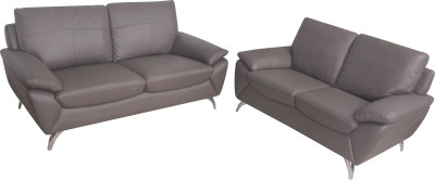 Nesta Furniture Mellby Half-leather 3 + 2 Grey Sofa Set