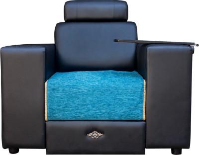 Wood pecker Solid Wood Sectional Blue Sofa Set