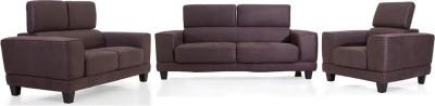 Evok Delite Sofa Set 3 + 2 + 1 Brown Fabric 3 + 2 + 1 Brown Sofa Set