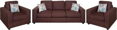 Evok Fabric Fabio Sofa Set 3+1+1 Seater In Chocolate Colour Fabric 3 + 1 + 1 Chocolate Sofa Set