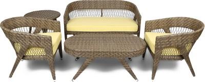 Svelte Classy Metal Sectional Brown Sofa Set