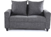 Furnicity Fabric 2 Seater Sofa(Finish Color - Grey)