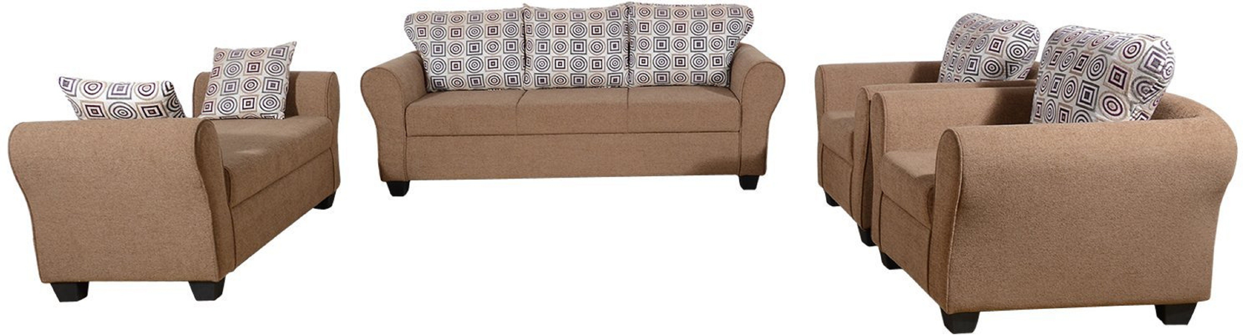 View RAWAT Nano 1 Solid Wood 3 + 2 + 1 + 1 Multicolour Sofa Set(Configuration - L) Furniture (RAWAT)