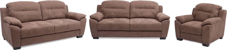 Evok Poland Fabric 3 + 2 + 1 Coffee Sofa Set