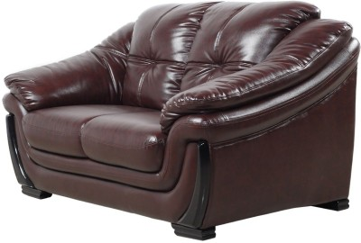 IDEAWOODS Classy Solid Wood 1 + 1 Brown Sofa Set