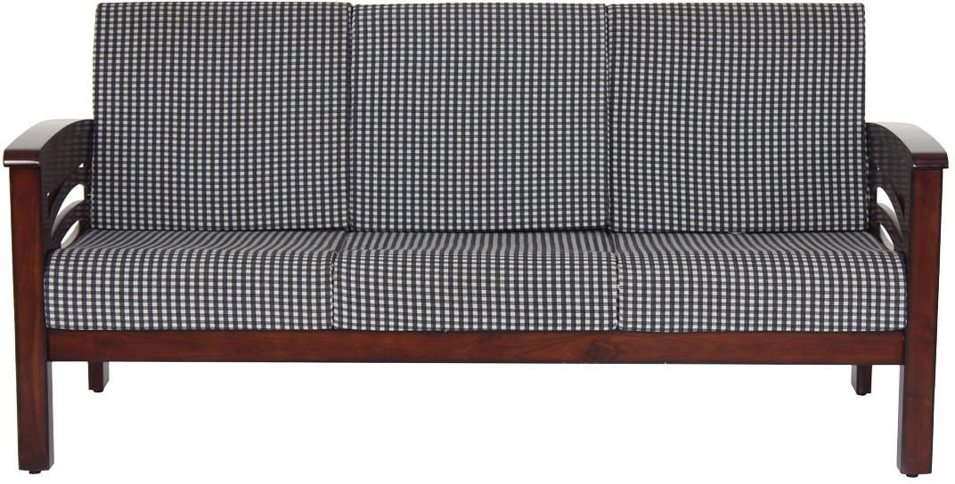 View JFA Faramond Fabric Sectional Darkwalnut Sofa Set(Configuration - Straight) Furniture (JFA)