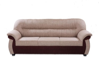 Furnicity Solid Wood 3 Seater Sofa(Finish Color - Brown)