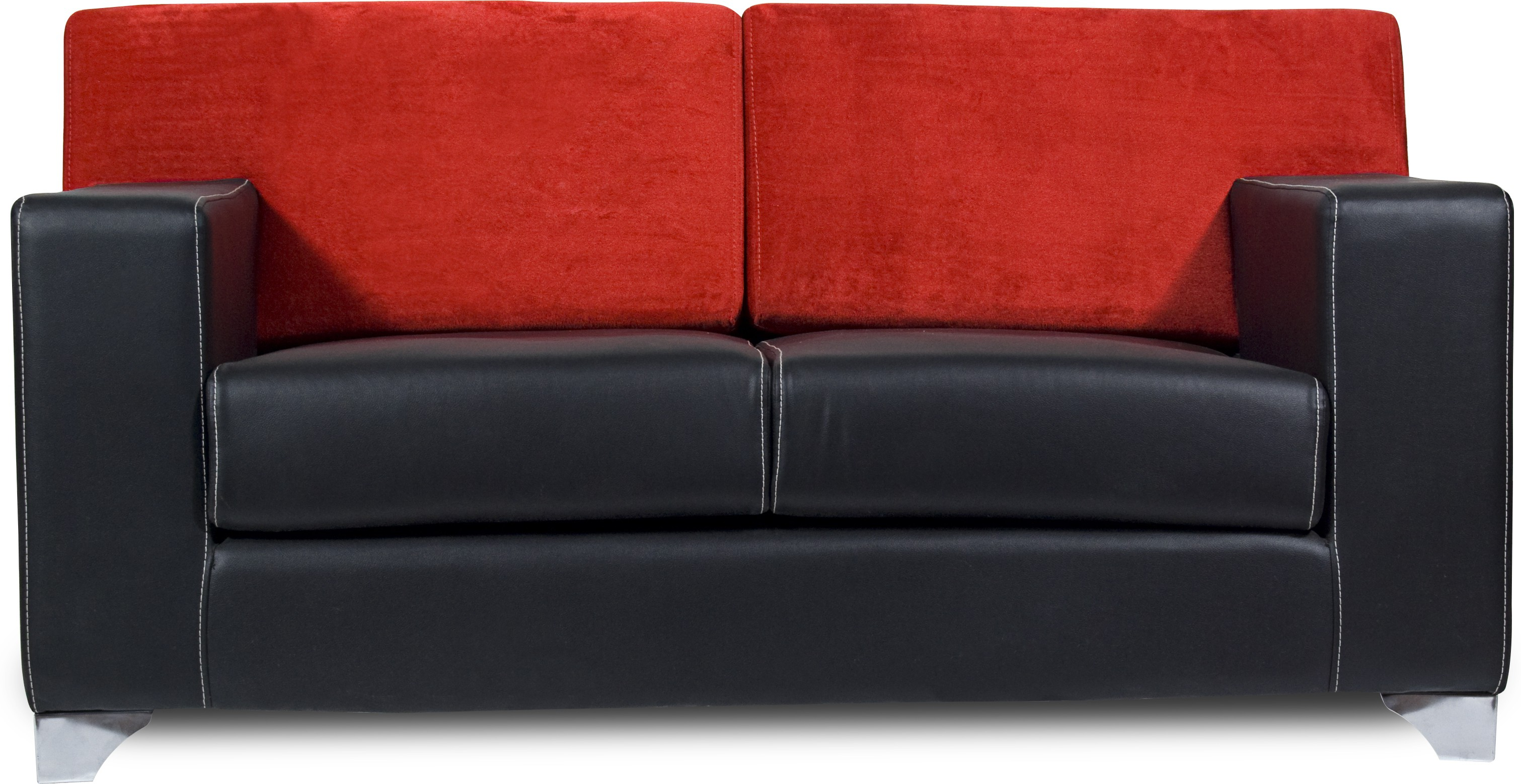 View Homecity Leatherette 2 Seater Sofa(Finish Color - Black) Furniture (Home City)