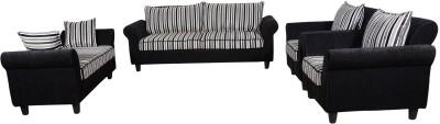 RAWAT Nano 2 Solid Wood 3 + 2 + 1 + 1 Multicolour Sofa Set(Configuration - L)