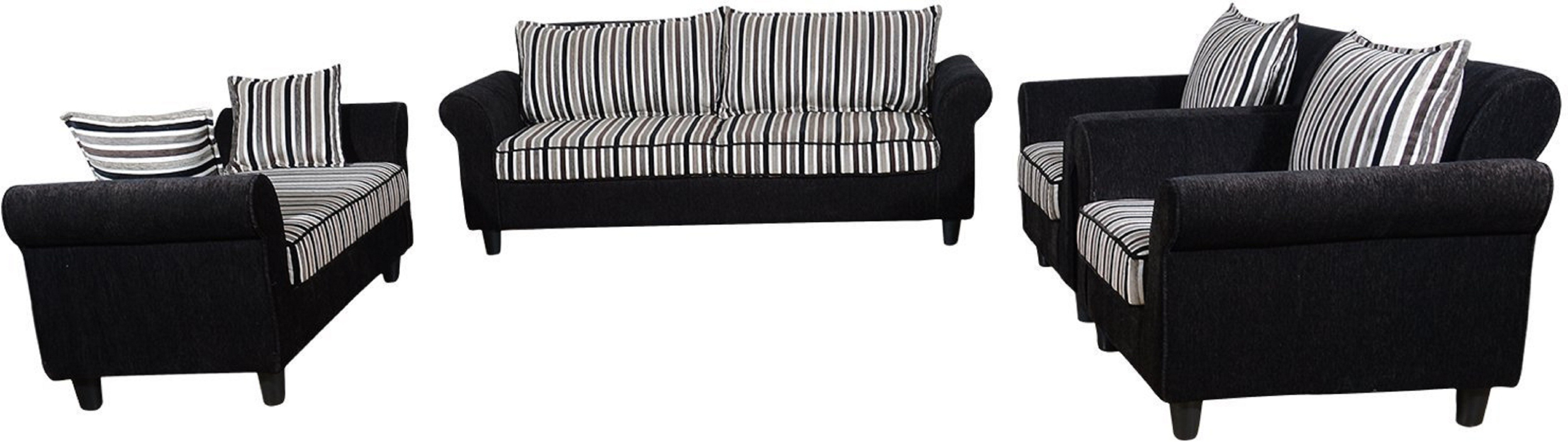 View RAWAT Nano 2 Solid Wood 3 + 2 + 1 + 1 Multicolour Sofa Set(Configuration - L) Furniture (RAWAT)