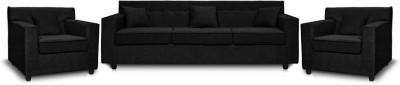 Comfy Sofa Leatherette 3 + 1 + 1 BLACK Sofa Set(Configuration - U-shaped)