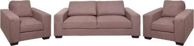 Evok Zaira Sofa Set 3 + 1 + 1 Seater in Earthy Brown Fabric 3 + 1 + 1 Earthy Brown Sofa Set