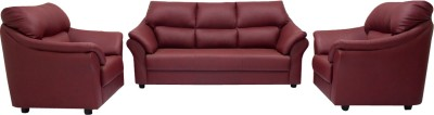 Woodpecker Lotus Solid Wood 3 + 1 + 1 Burgundy Sofa Set