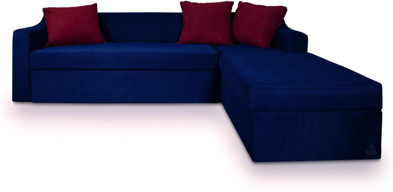 Dolphin Fabric 3 + 2 Nevy-Maroon Sofa Set(Configuration - L-shaped)