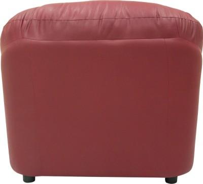 Wood pecker Leatherette Sectional Maroon Sofa Set