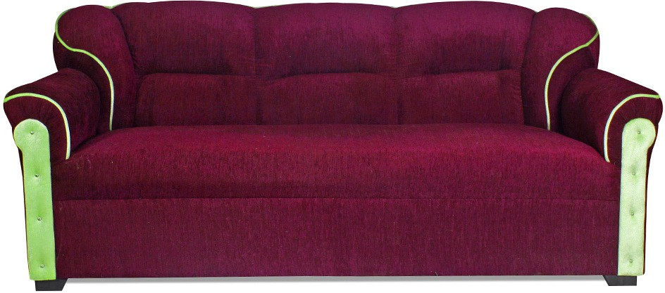 View HOMESTOCK Fabric 3 + 1 + 1 Maroon Sofa Set(Configuration - Straight) Price Online(HOMESTOCK)