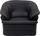 Wood Pecker Leatherette Sectional Black ...