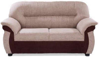 Furnicity Solid Wood 2 Seater Sofa(Finish Color - Brown)