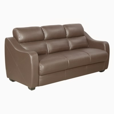 Godrej Interio VIDA 3st in S1n Leather Burgd Solid Wood 3 Seater Sofa