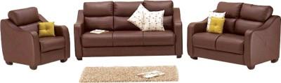 Godrej Interio Vida Sofa Set Solid Wood 3 + 2 + 1 Burgundy Sofa Set
