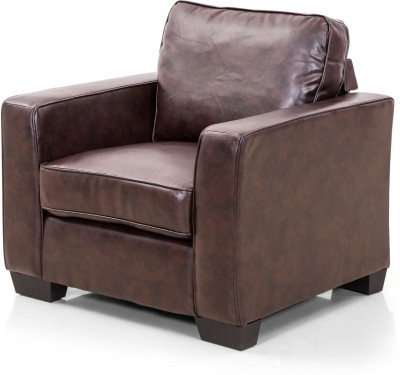 IDEAWOODS Classy Solid Wood Sectional Brown Sofa Set