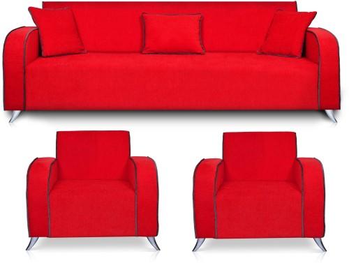Charming Dolphin Cabana Fabric 3 + 1 + 1 Red Sofa Set