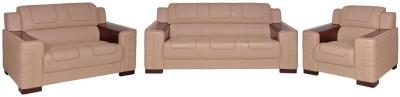 Evok Vienna Sofa Set 3 + 2 + 1 Seater in Beige Leatherette 3 + 2 + 1 Beige Sofa Set