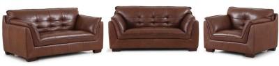 Evok Barclay Sofa Set 3 + 2 + 1 Seaterin Dark Ton Leather 3 + 2 + 1 Dark Tan Sofa Set