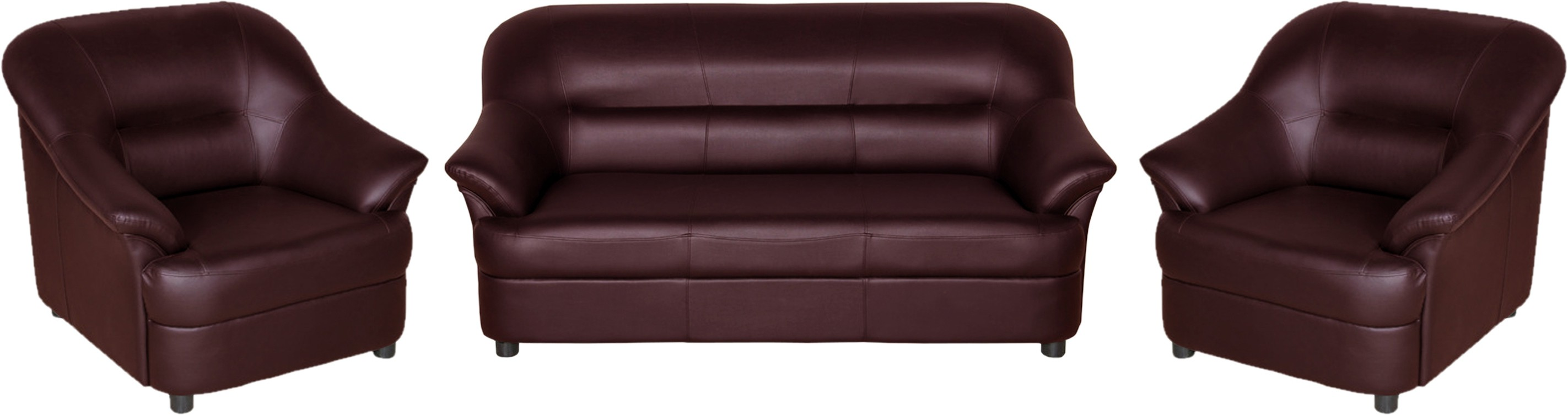 View Sethu Furniture Fabric 3 + 1 + 1 Brown Sofa Set(Configuration - Straight) Furniture (Sethu Furniture)