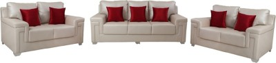 Vintage Thames Solid Wood 3 + 2 + 2 BEIGE Sofa Set(Configuration - Straight)