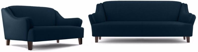 Fabhomedecor Austin Fabric 3 2 Dark Blue Sofa SetConfiguration