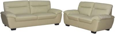 Nesta Furniture Accent Leather 3 + 2 Beige Sofa Set