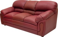 Wood Pecker Leatherette Sectional Maroon Sofa Set(Configuration - U-Shaped)