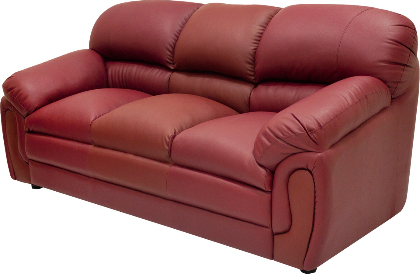 View Wood Pecker Leatherette Sectional Maroon Sofa Set(Configuration - U-Shaped) Price Online(Wood Pecker)