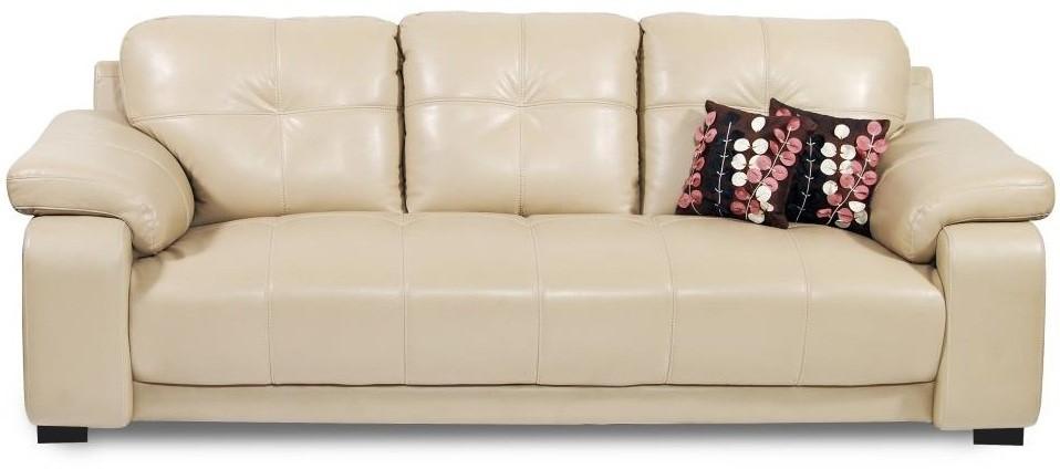 View Homecity GLORIA Leatherette 3 Seater Sofa(Finish Color - Beige) Furniture (Homecity)