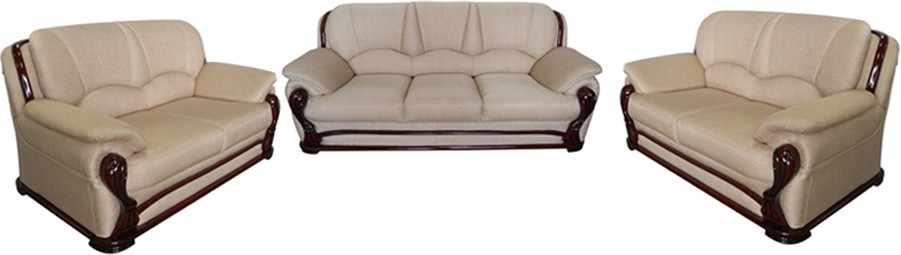 View Vintage Ivoria Fabric 3 + 2 + 2 MAHOGANY Sofa Set(Configuration - Straight) Price Online(Vintage)