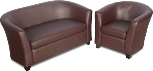 Buy Godrej Interio Leatherette 2 1 Burgundy Sofa Set Configuration