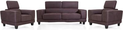 Evok Delite Sofa Set 3 + 1 + 1 Brown Fabric 3 + 1 + 1 Brown Sofa Set