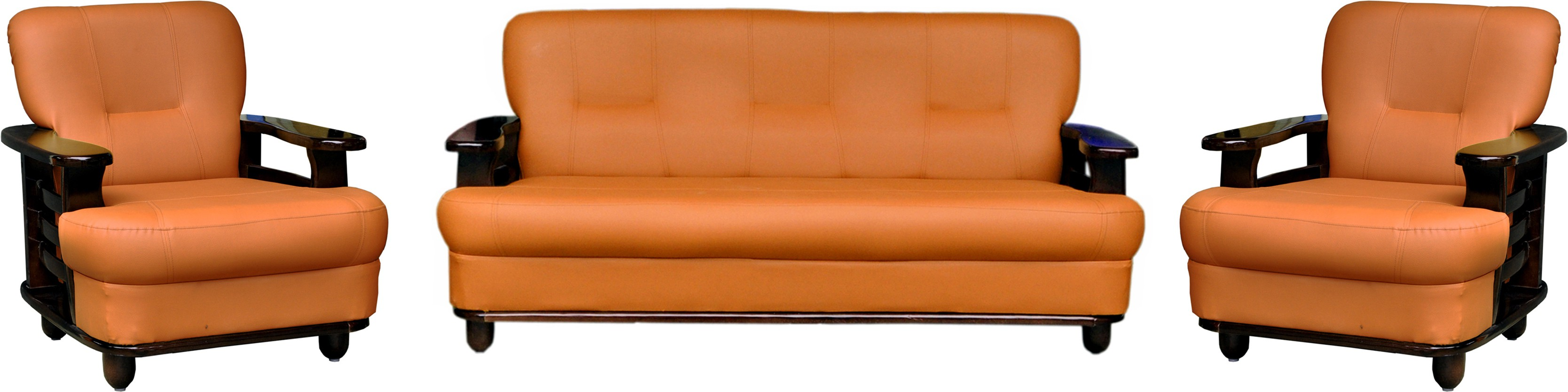 Admirable Knight Industry Leatherette 3 1 1 Rosewood Finish Sofa Cjindustries Chair Design For Home Cjindustriesco