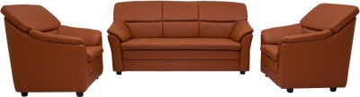 Woodpecker Lily Solid Wood 3 + 1 + 1 Brown Sofa Set